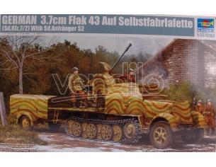 Trumpeter TP1527 CARRO GERMAN 3,7 FLAK 1:35 Modellino